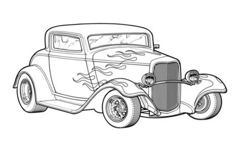 coloring pages with cars and trucks classic hot rod car coloring page printable