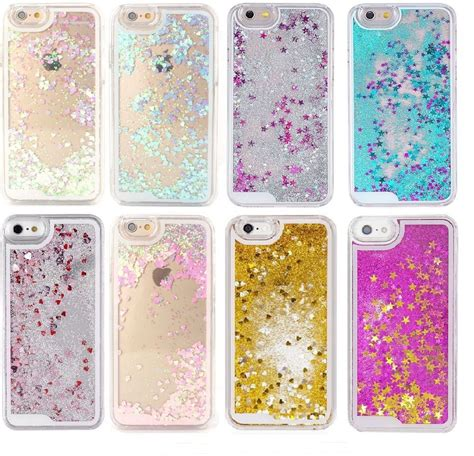 Sparkling Glitter Blink Iphone 6 6s 6 6s Soft Tpu Purple glitter liquid hearts and 3d novelty bling sparkle iphone 6 6s p6 ebay