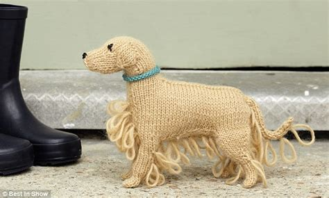 dave the stash busting dachshund knit flat in the knitted sausage dog pattern anaf info for