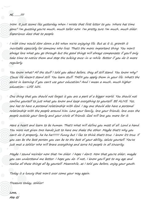 Letter Of Advice giving advice the end justifies the journey
