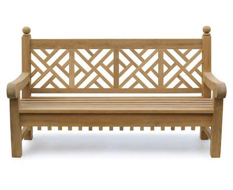 chippendale garden bench chiswick teak 6ft chippendale garden bench lattice bench