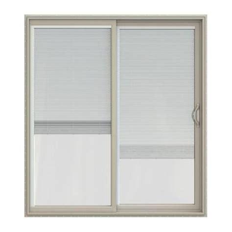Patio Door Blinds Home Depot Jeld Wen V 2500 Series Vinyl Sliding Patio Door With Blinds Jw1815 00197 The Home Depot