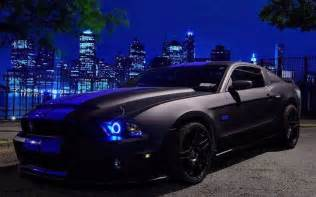 Purple Halo Lights by Tuning Cars Download Wallpaper Mustang Black Tuning
