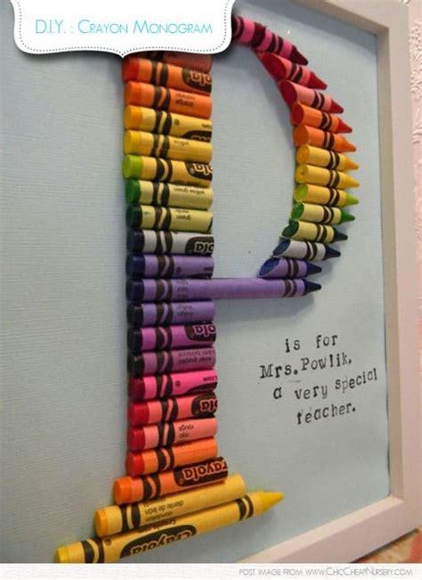 diy crafts with crayons handmade crayon monogram