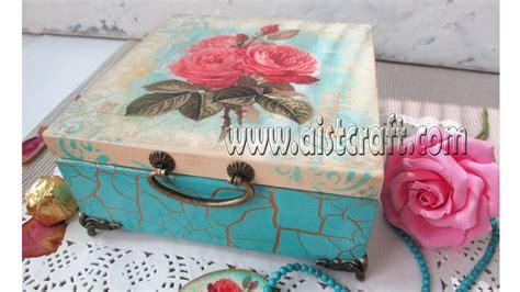 decoupage crackle tutorial how to crackle paint decoupage box tutorial diy
