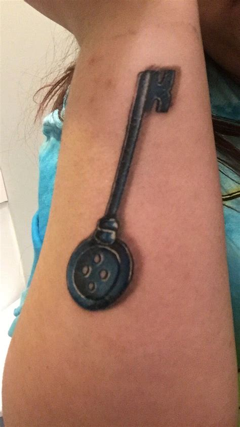coraline tattoo healing coraline key tattoos key