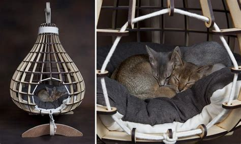 hanging cat bed south african company intros some high end quarters for