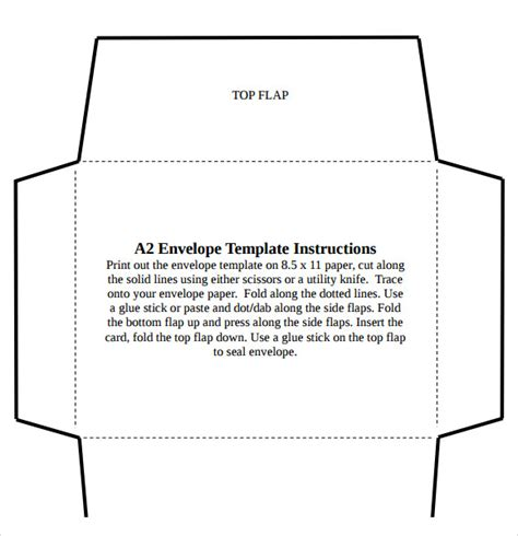 A2 Card Template by A2 Envelope Template 7 Free Documents In Pdf