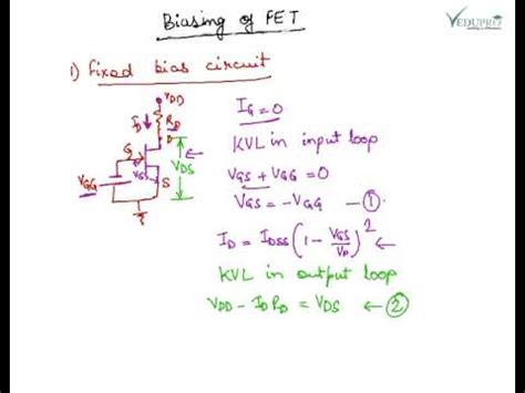 integrated circuit biasing techniques fet biasing circuit jfet biasing techniques types of fet biasing