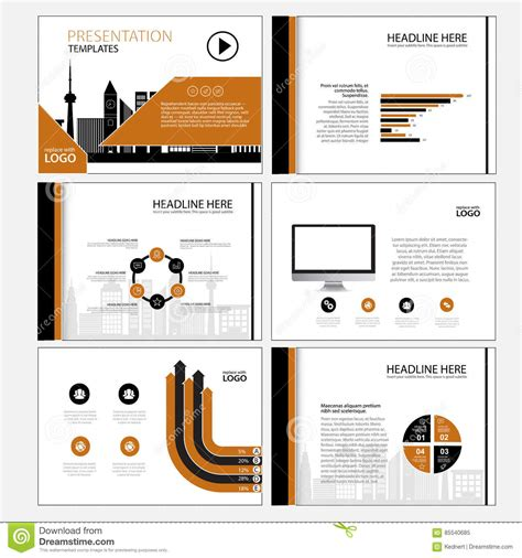 element layout template is not supported business template design set presentation and brochure