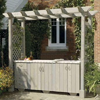build  outdoor kitchen island  pergola