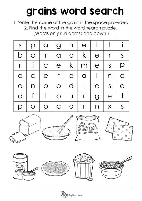 One Grain Of Rice Worksheet Answers by Grains Word Search Puzzle Unite Unite