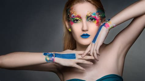 girl wallpaper qhd girl portrait painting colorful wallpaper 2560x1440