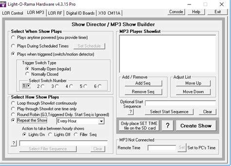 light o rama hardware utility light o rama mp3 directors