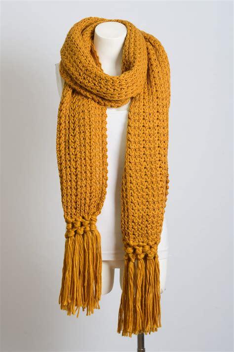 Chunky Knit Scarf chunky knit tassel scarf