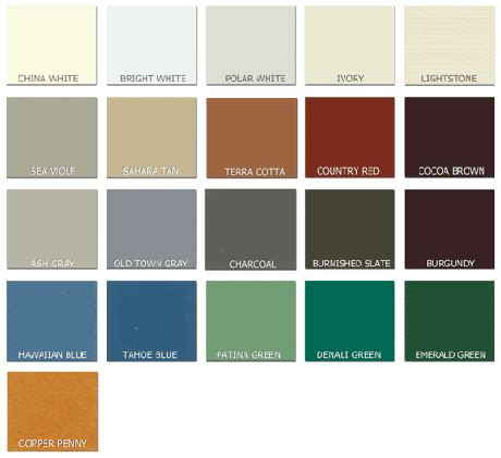 metal siding colors steel roofing colors 9 metal roofing siding color