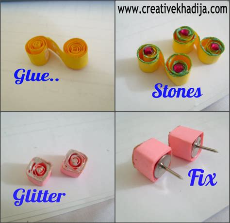 How To Make With Quilling Paper - diy paper quilled earrings 183 how to make a set of paper