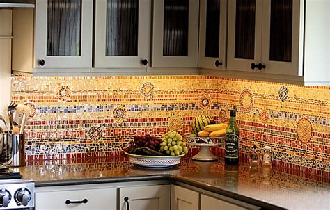 Kitchen With Mosaic Backsplash by 16 Wonderful Mosaic Kitchen Backsplashes