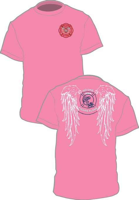 breast cancer awareness apparel breast cancer awareness t shirt w wings firefighter