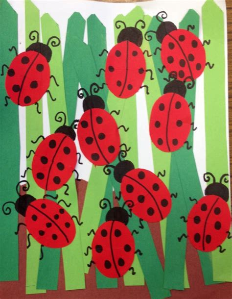 ladybug craft projects ladybugs in grass projects for grades k 2