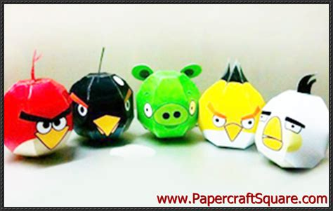 Angry Birds Paper Crafts Gadgetsin by Angry Birds Papercraft Free