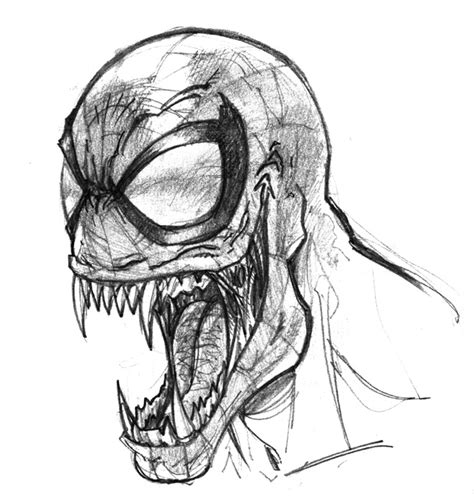 Drawing Venom by Venom Drawings Venom Pencil Drawings Daily Sketch