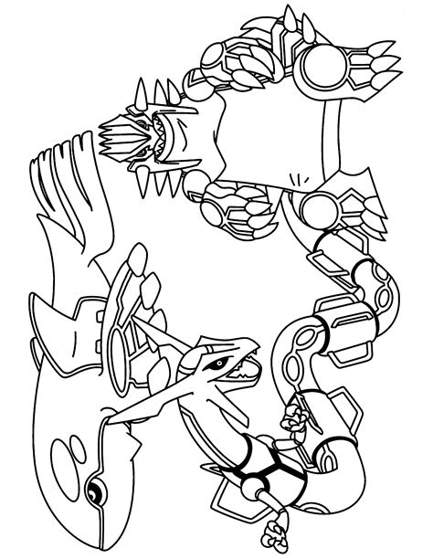 legendary pokemon coloring pages rayquaza free legendary rayquaza coloring pages