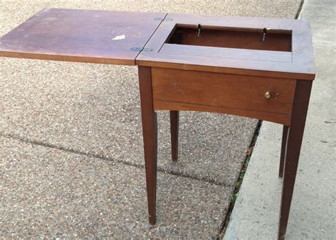 how to a sewing table vintage sewing table turned beverage table a nester s nest