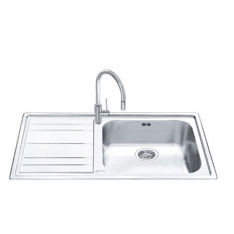 Smeg Kitchen Sinks Smeg Leh150s Rigae Kitchen Sink 1 Bowl Stainless Steel 100 Cm Fab