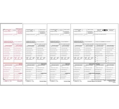 laser 6 part tax forms, w 2c kit | free shipping