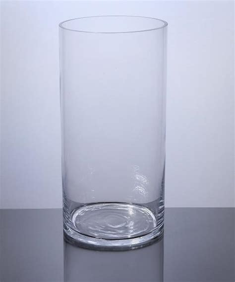 Cylindrical Glass Vases by Pc612 Cylinder Glass Vase 6 Quot X 12 Quot 6 P C Cylinder Glass