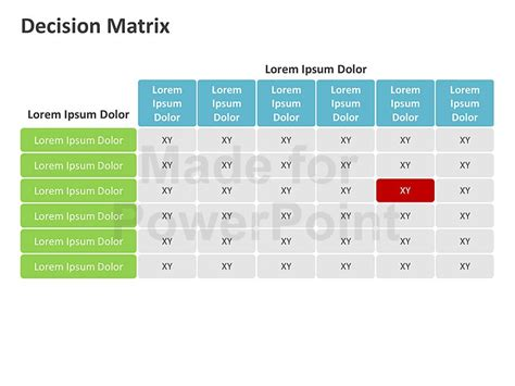 layout decision ppt matrices editable powerpoint bundles