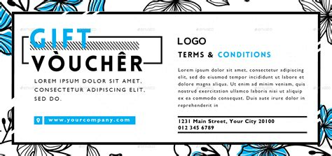 Fashion Gift Voucher Vol 2 By Totemdesigns Graphicriver Gift Voucher Terms And Conditions Template