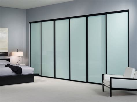 Glass Sliding Closet Door Large Sliding Glass Closet Doors