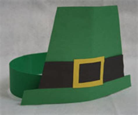 How To Make A Leprechaun Hat Out Of Paper - paper leprechaun hat craft all network