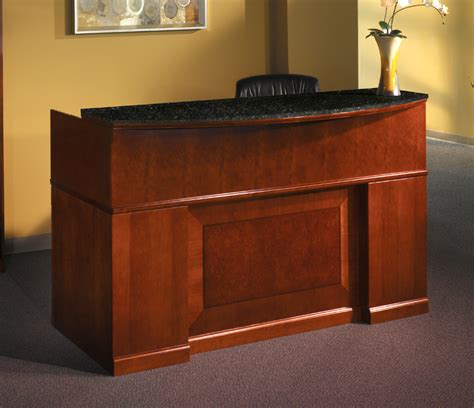 Granite Reception Desk Mayline Furniture Srcdm Sorrento Reception Desk With Granite Counter