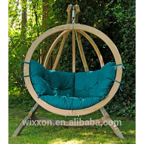 globo swing chair globo spruce wooden swing seat and stand wooden swing