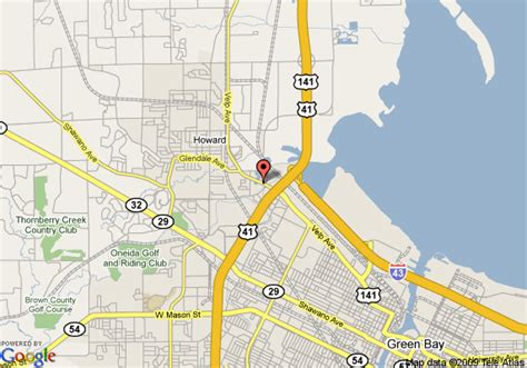 green bay map map of americinn of green bay wi green bay