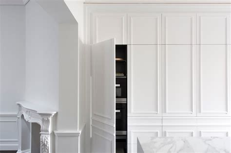 contemporary kitchen hidden  elegant wall panels