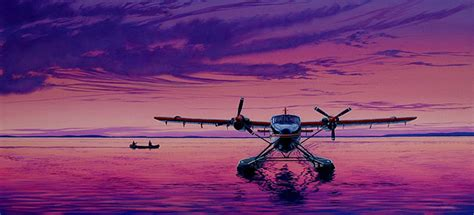 webmaster wardair twin otter drifting on great slave lake nt by