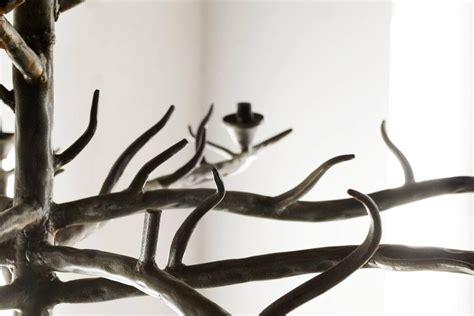 Tree Branch Chandeliers Handmade Tree Branch Chandelier Steel At 1stdibs