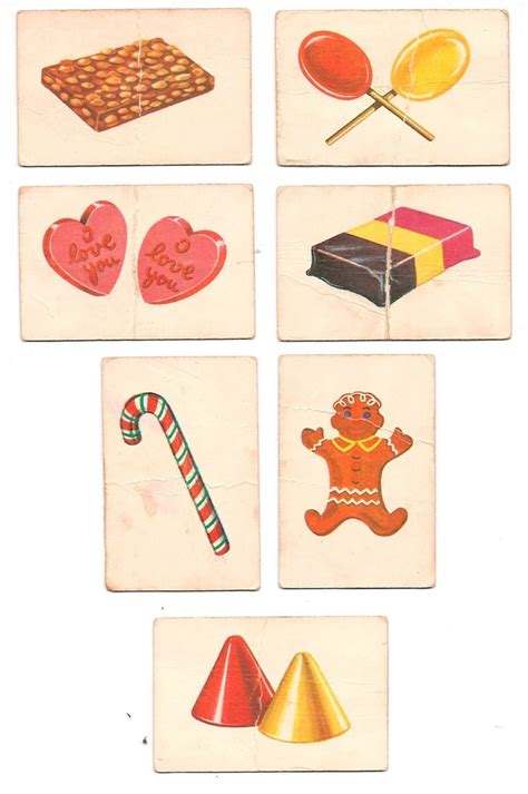 candyland cards template 1955 1962 quot candyland quot board cards peanut brittle