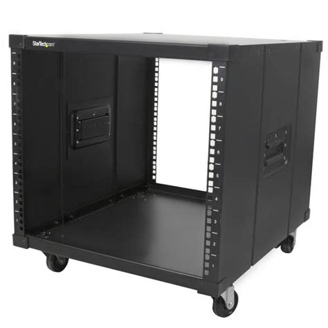 Rack On Portable Server Rack With Handles Rolling Cabinet 9u