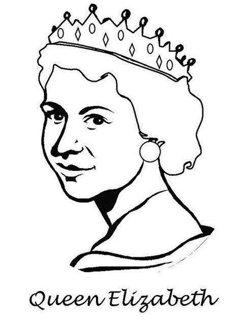 coloring pages queen elizabeth 1 queen elizabeth diamond jubilee coloring pages family