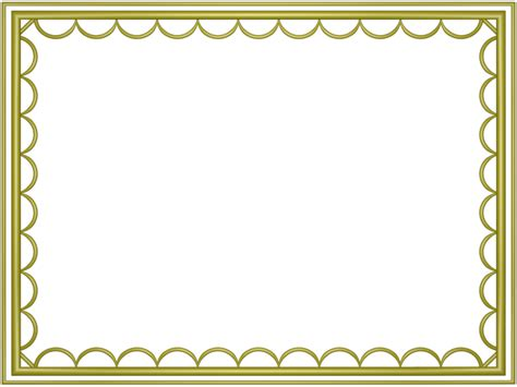 border color yellow artistic loop rectangular powerpoint border 3d