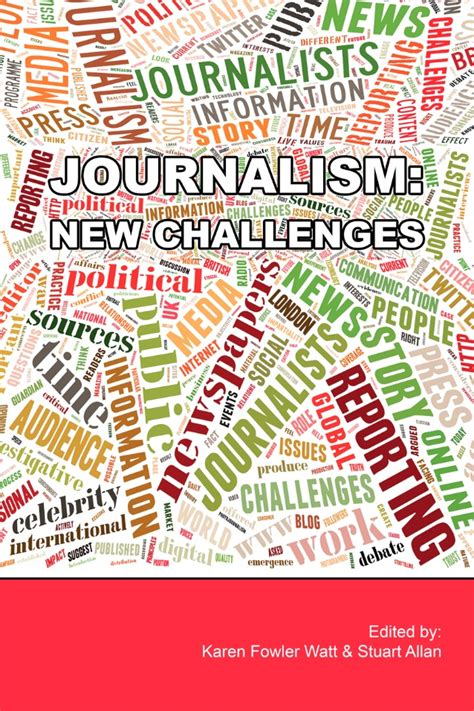 Journalism Books by E Book Quot Journalism New Challenges Quot