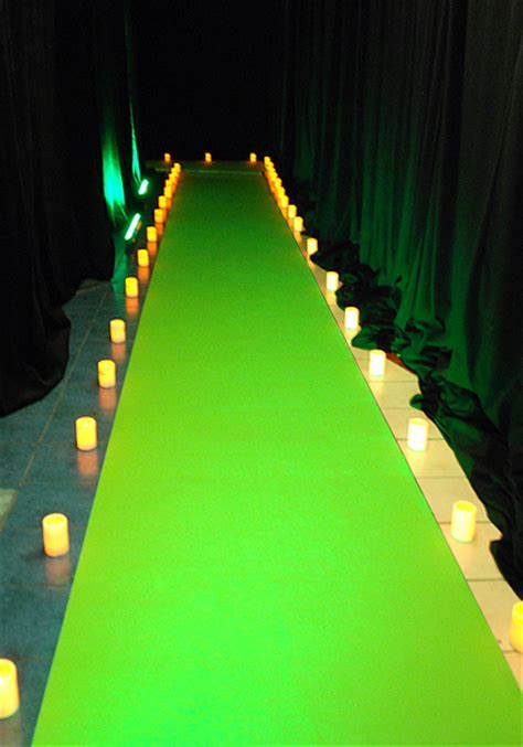 Lime green event carpet runner   Reznick Event Carpets