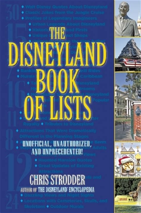who knew disneyland books the disneyland book of lists by chris strodder reviews