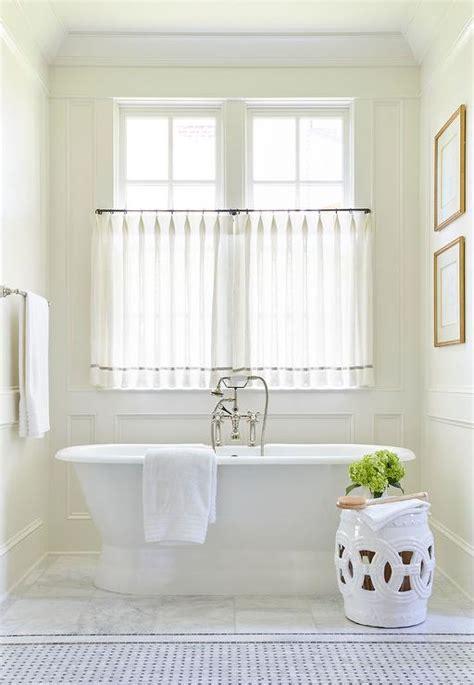 Cafe Curtains Bathroom Window Sheer Curtains In Bathroom Curtain Menzilperde Net