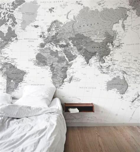 Map Mural Wall 15 quartos com papel de parede de mapa m 250 ndi casa claudia